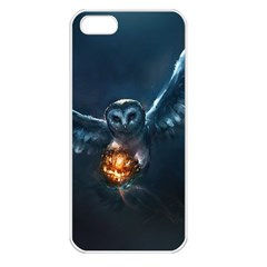 Owl And Fire Ball Apple iPhone 5 Seamless Case (White)
