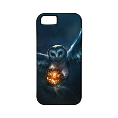 Owl And Fire Ball Apple Iphone 5 Classic Hardshell Case (pc+silicone)