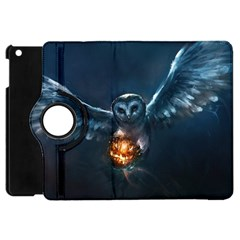 Owl And Fire Ball Apple Ipad Mini Flip 360 Case
