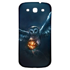 Owl And Fire Ball Samsung Galaxy S3 S Iii Classic Hardshell Back Case