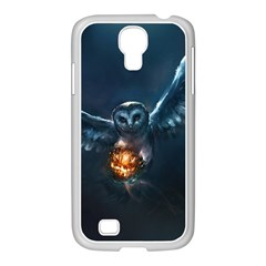 Owl And Fire Ball Samsung Galaxy S4 I9500/ I9505 Case (white)