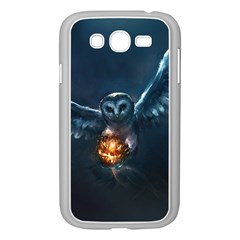Owl And Fire Ball Samsung Galaxy Grand Duos I9082 Case (white)