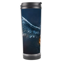 Owl And Fire Ball Travel Tumbler