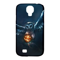 Owl And Fire Ball Samsung Galaxy S4 Classic Hardshell Case (pc+silicone)