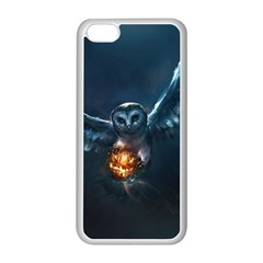 Owl And Fire Ball Apple Iphone 5c Seamless Case (white)