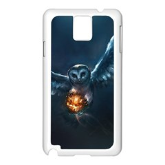 Owl And Fire Ball Samsung Galaxy Note 3 N9005 Case (white)