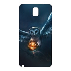Owl And Fire Ball Samsung Galaxy Note 3 N9005 Hardshell Back Case