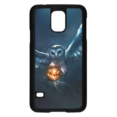 Owl And Fire Ball Samsung Galaxy S5 Case (black)