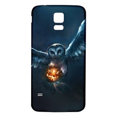 Owl And Fire Ball Samsung Galaxy S5 Back Case (white)