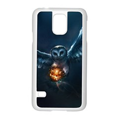 Owl And Fire Ball Samsung Galaxy S5 Case (white)