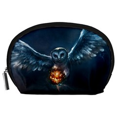 Owl And Fire Ball Accessory Pouches (large)