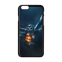 Owl And Fire Ball Apple Iphone 6/6s Black Enamel Case