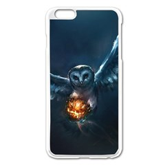 Owl And Fire Ball Apple Iphone 6 Plus/6s Plus Enamel White Case