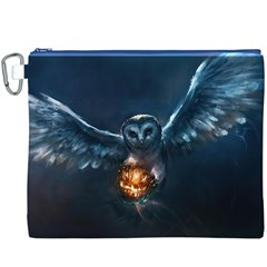 Owl And Fire Ball Canvas Cosmetic Bag (xxxl)