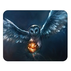 Owl And Fire Ball Double Sided Flano Blanket (large)