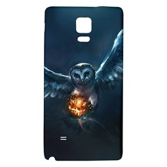 Owl And Fire Ball Galaxy Note 4 Back Case