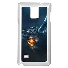 Owl And Fire Ball Samsung Galaxy Note 4 Case (white)
