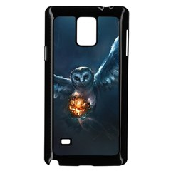 Owl And Fire Ball Samsung Galaxy Note 4 Case (black)
