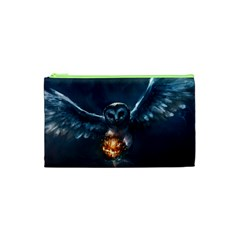 Owl And Fire Ball Cosmetic Bag (xs)