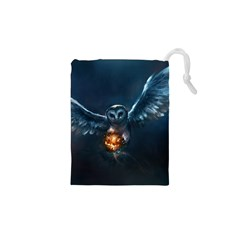Owl And Fire Ball Drawstring Pouches (xs)