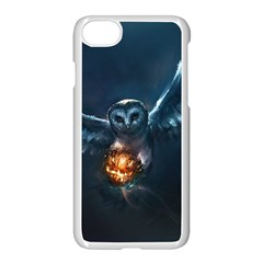 Owl And Fire Ball Apple Iphone 7 Seamless Case (white)