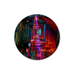 City Photography And Art Rubber Round Coaster (4 Pack)