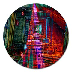 City Photography And Art Magnet 5  (round)