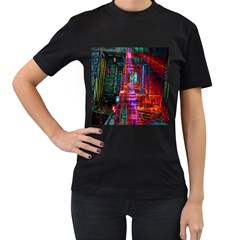 City Photography And Art Women s T-Shirt (Black) (Two Sided)