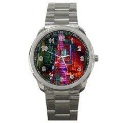 City Photography And Art Sport Metal Watch