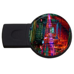 City Photography And Art Usb Flash Drive Round (4 Gb)