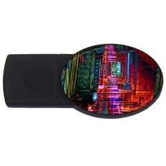 City Photography And Art Usb Flash Drive Oval (4 Gb)
