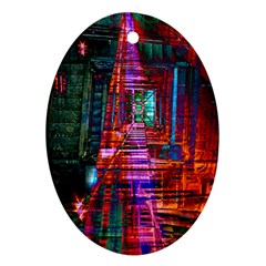 City Photography And Art Oval Ornament (two Sides)