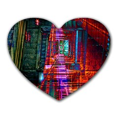 City Photography And Art Heart Mousepads