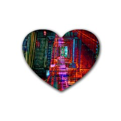 City Photography And Art Rubber Coaster (heart)