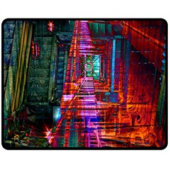 City Photography And Art Fleece Blanket (medium)