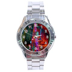 City Photography And Art Stainless Steel Analogue Watch