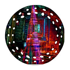 City Photography And Art Round Filigree Ornament (two Sides)