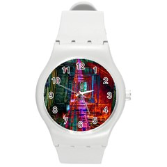 City Photography And Art Round Plastic Sport Watch (M)