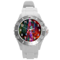 City Photography And Art Round Plastic Sport Watch (l)