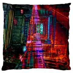 City Photography And Art Large Cushion Case (one Side)