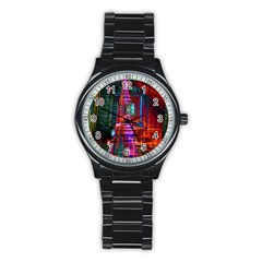 City Photography And Art Stainless Steel Round Watch