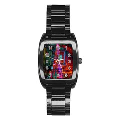 City Photography And Art Stainless Steel Barrel Watch