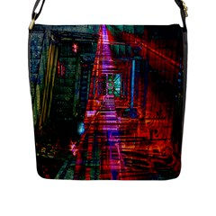 City Photography And Art Flap Messenger Bag (l)