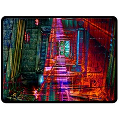 City Photography And Art Double Sided Fleece Blanket (large)