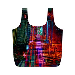 City Photography And Art Full Print Recycle Bags (m)