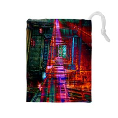 City Photography And Art Drawstring Pouches (large)