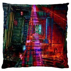 City Photography And Art Large Flano Cushion Case (One Side)