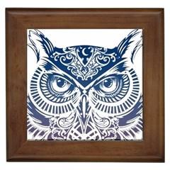 Owl Framed Tiles