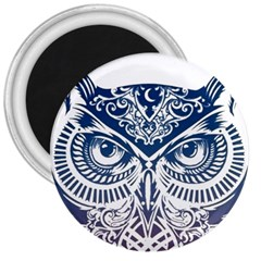 Owl 3  Magnets