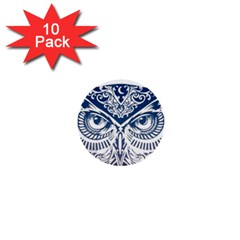 Owl 1  Mini Buttons (10 Pack)